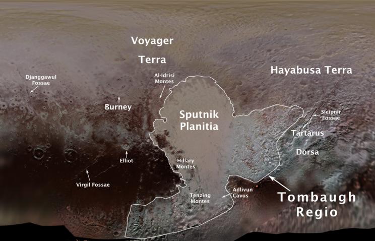 NASA опубликовало первую географическую карту Плутона