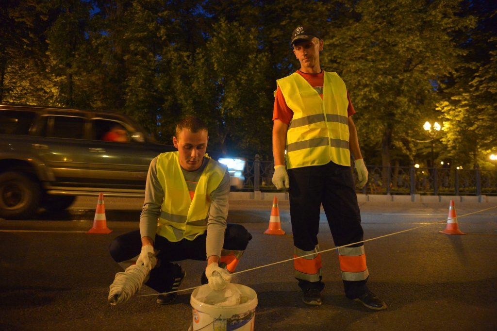 Дорожную разметку в Сосенском нанесут до конца месяца