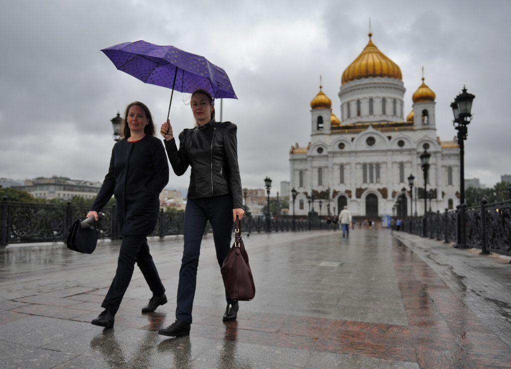 Москвичей ожидает дождливое воскресенье