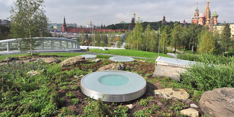 Парк «Зарядье» стал подарком москвичам в День 870-летия города. Фото: mos.ru