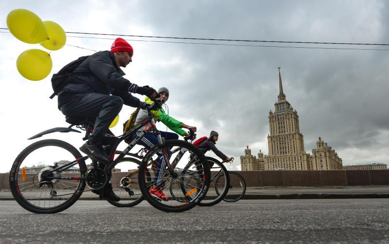 В Москве организуют десять «энергетических точек» для акции «На работу на велосипеде»