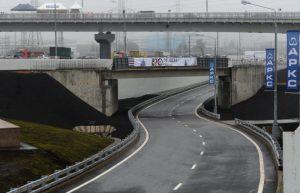 Накануне Дня города открылось движение по развязке МКАД с Профсоюзной улицей. Фото: Владимир Новиков