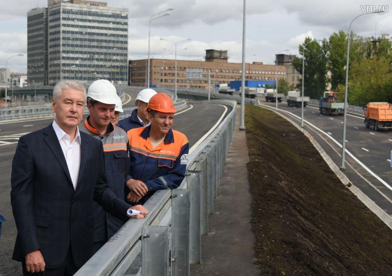 Собянин открыл эстакады на развязке СВХ с шоссе Энтузиастов