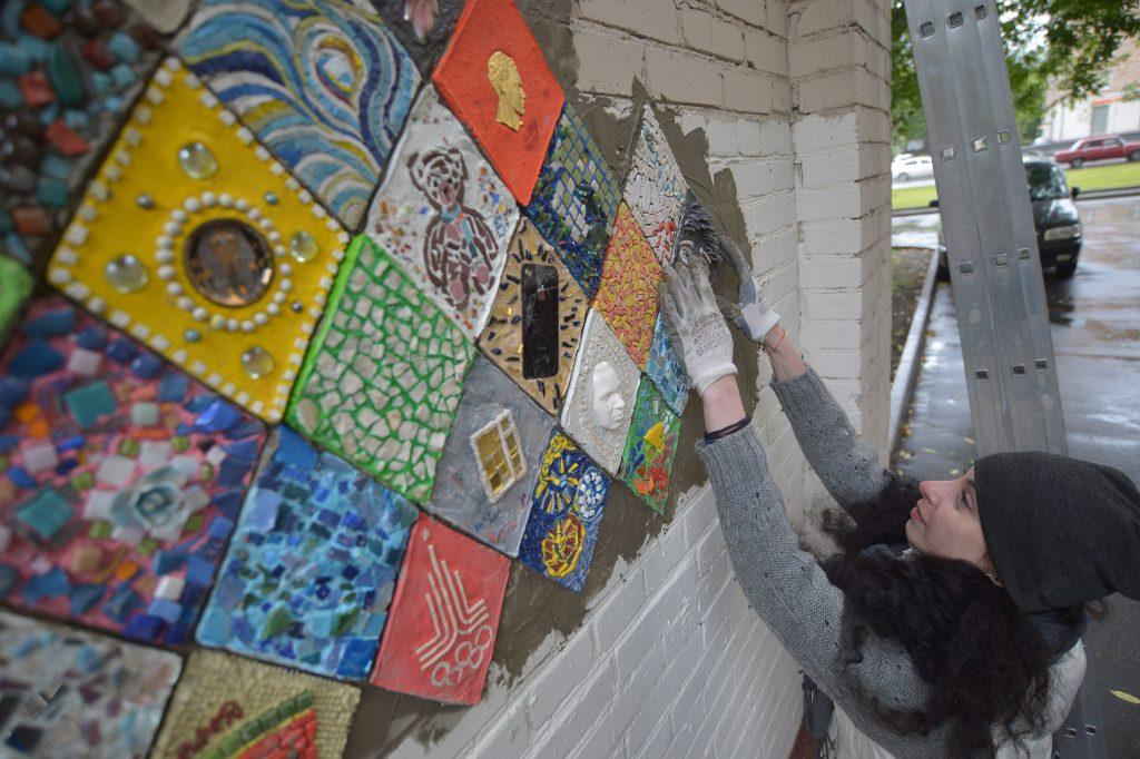 Филимонковский дом-интернат украсят мозаичными цветами
