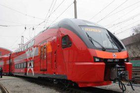 Первый двухэтажный поезд «Аэроэкспресс» запустили во Внуково