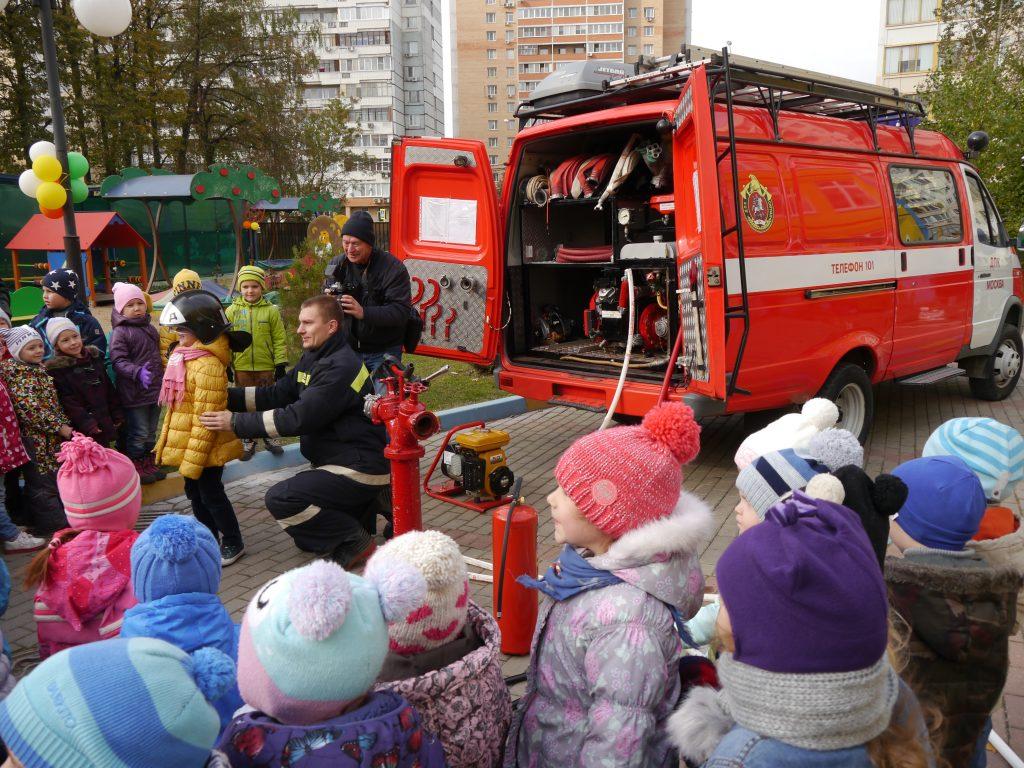 Спасатели и пожарные Новой Москвы провели открытые уроки для дошкольников
