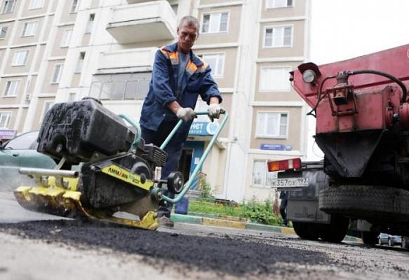 Асфальтобетонное дорожное покрытие уложили в поселении Сосенское