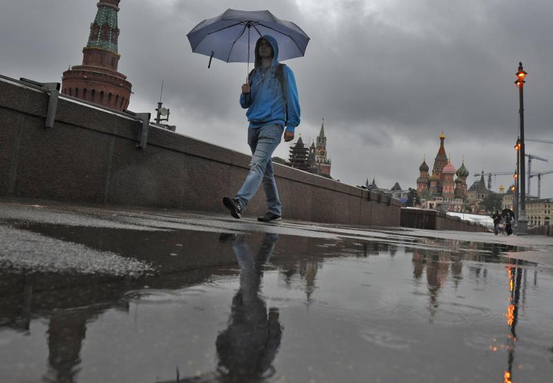 Около 27 процентов месячной нормы осадков выпали в Москве за два дня
