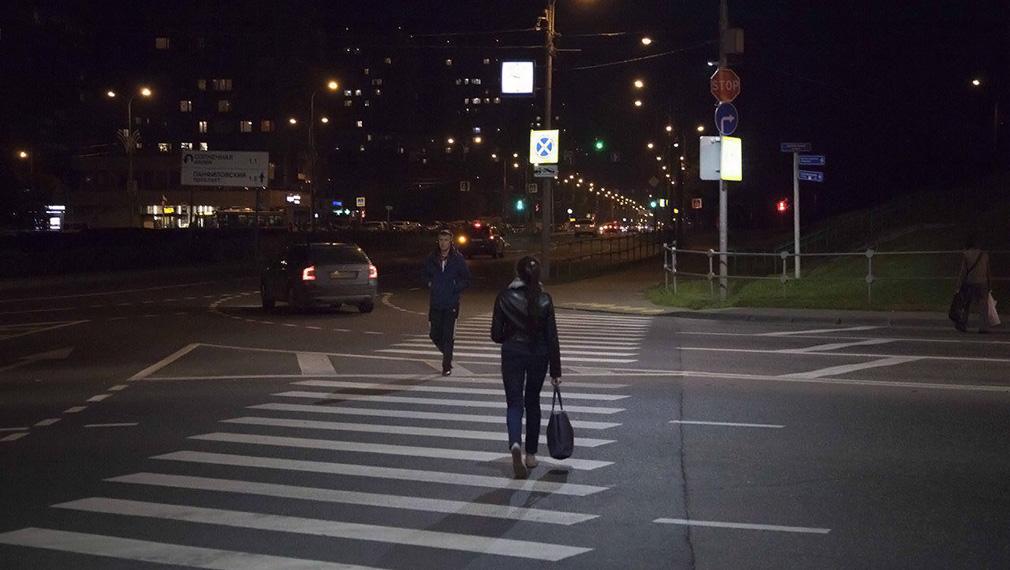 До ноября в Москве «осветят» почти 80 пешеходных переходов