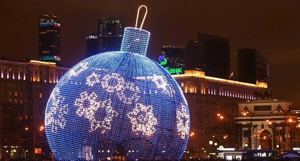 На Поклонной горе Москвы появится 11-метровый елочный шар-танцпол