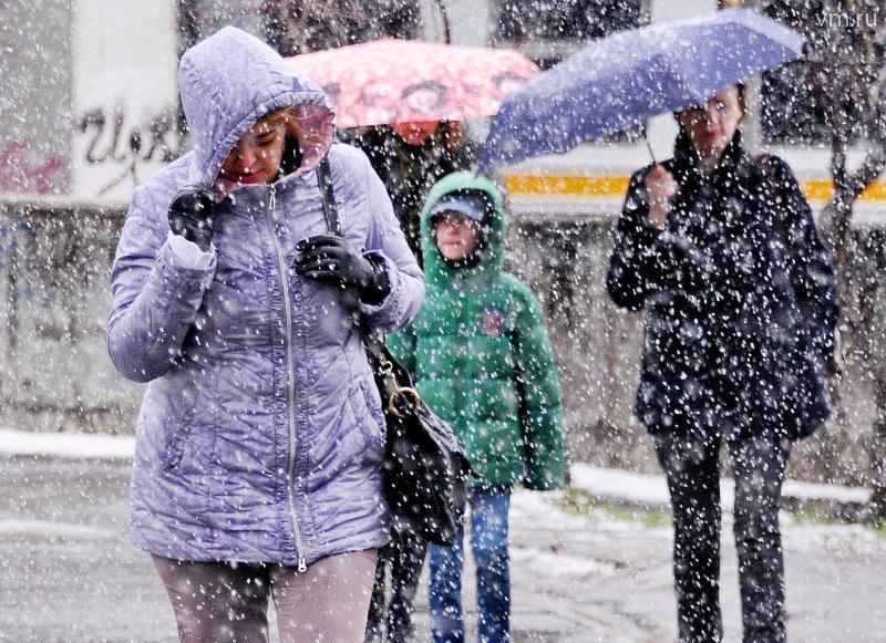 МЧС: в Москве ожидается мокрый снег и гололед