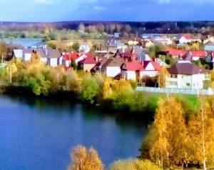Микрорайон «Приозерный», поселок ЛМС в Вороновском. Фото: страница Лидии Григорьян в социальных сетях