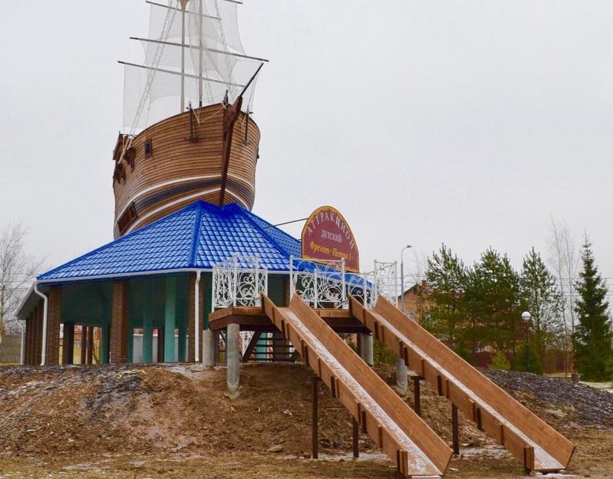 Строительство горки в Роговском завершится в начале декабря