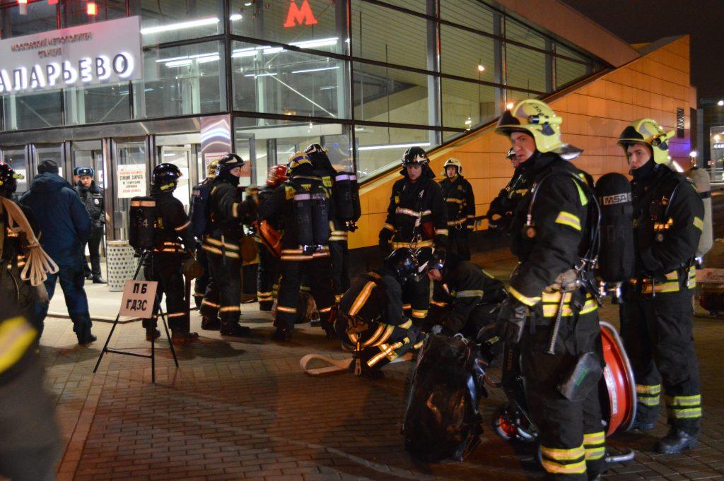 Пожарные Новой Москвы провели первые учения в метрополитене
