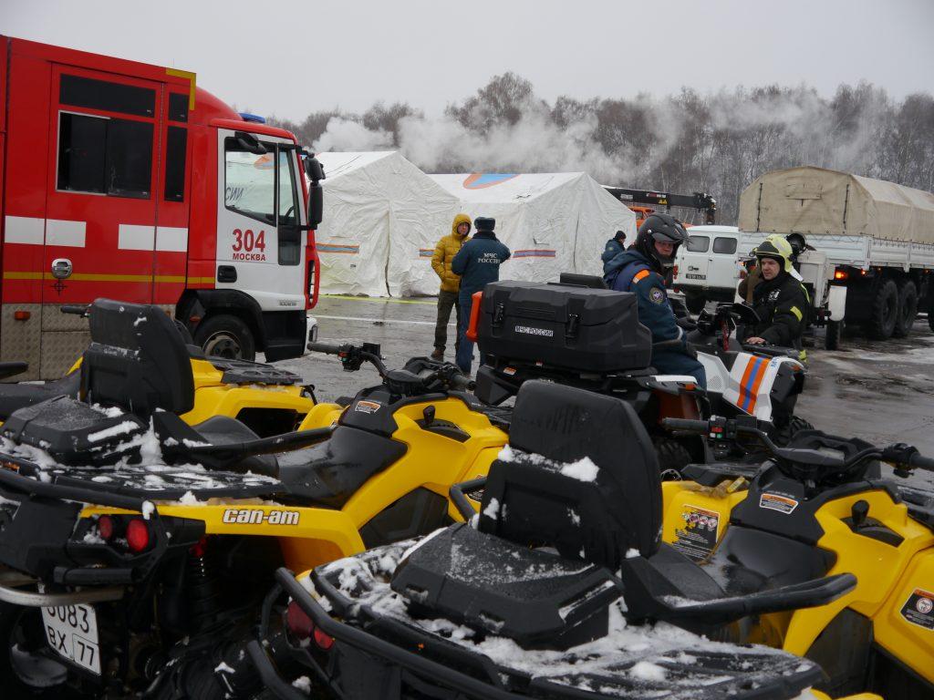 Спасатели провели тренировку