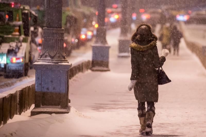 Пятая часть месячной нормы осадков выпадет в Москве 24 декабря