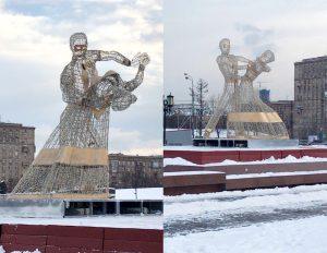 Вальсирующие пары появились в Москве на Поклонной горе