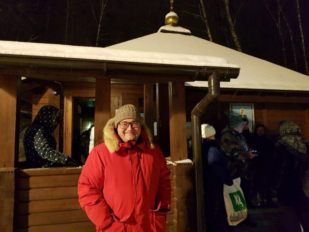 Префект ТиНАО Дмитрий Набокин посетил Крещенские купания в поселении Десеновское