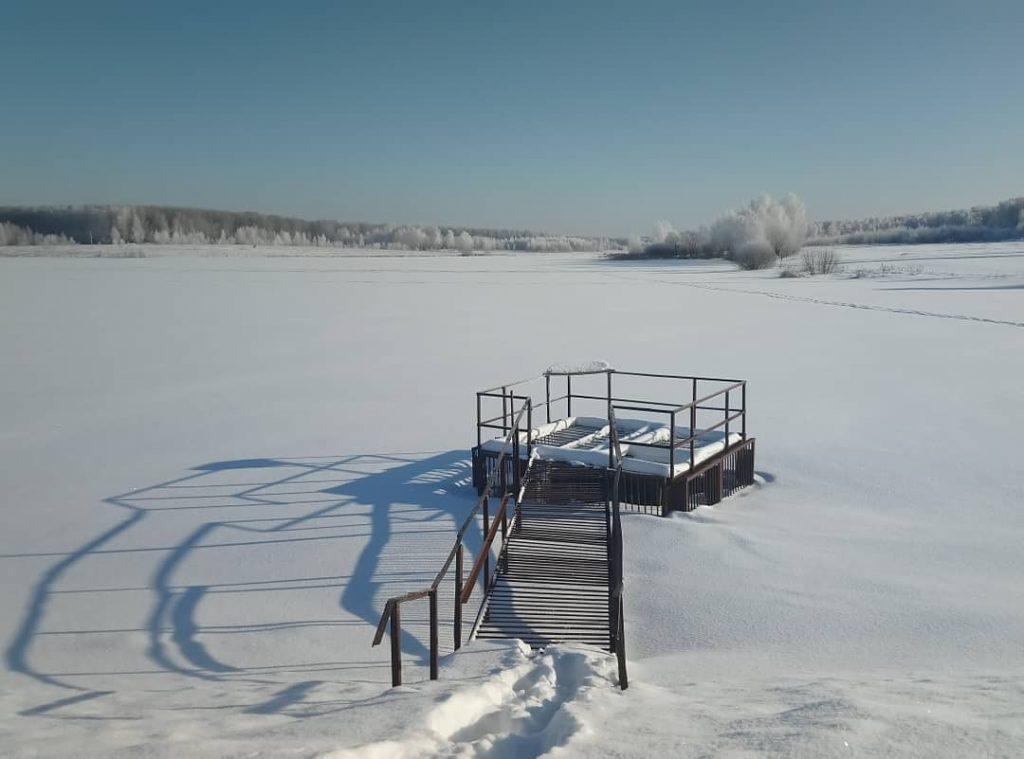 Пруд у деревни Горнево зимой. Фото: страница пользователя nadinbukina в Instagram