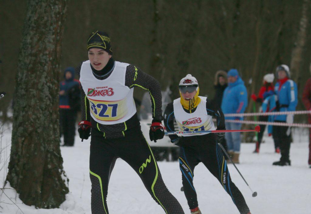 27 января 2018 года. Вороново, поселок ЛМС. Участники первого этапа соревнований «Вороновская лыжня».