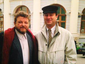 Фото из личного архива Юрия Пащенко, где ему посчастливилось сняться со знаменитостями: с актером Михаилом Евдокимовым