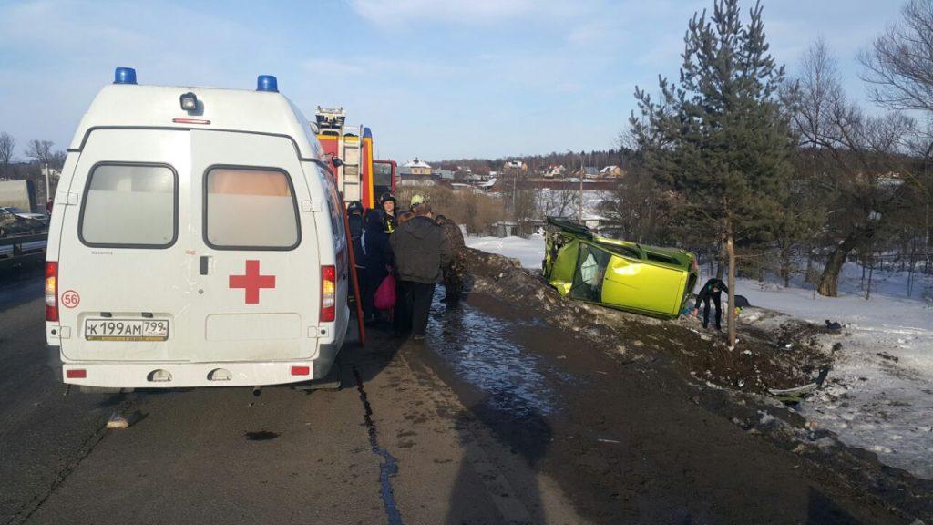 Санитарный вертолёт Московского авиационного центра вылетел на место ДТП