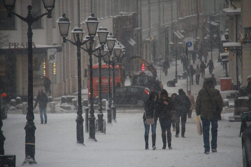 В среду Москву ждет опасный ветер с потеплением