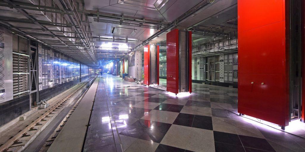 Станцию метро «Рассказовка» украсили декоративными панелями. Фото: mos.ru