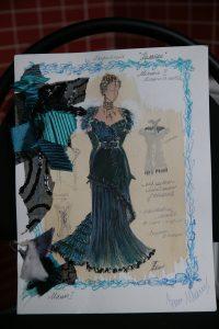 Эскизы некоторых костюмов Титовой с пометками и образцами использованной ткани. Фото: Владимир Смоляков
