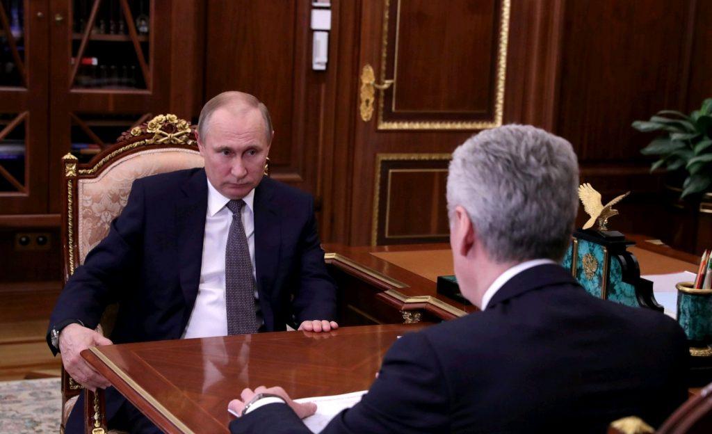 Президент России Владимир Путин и мэр Москвы Сергей Собянин. Фото: официальный сайт президента России