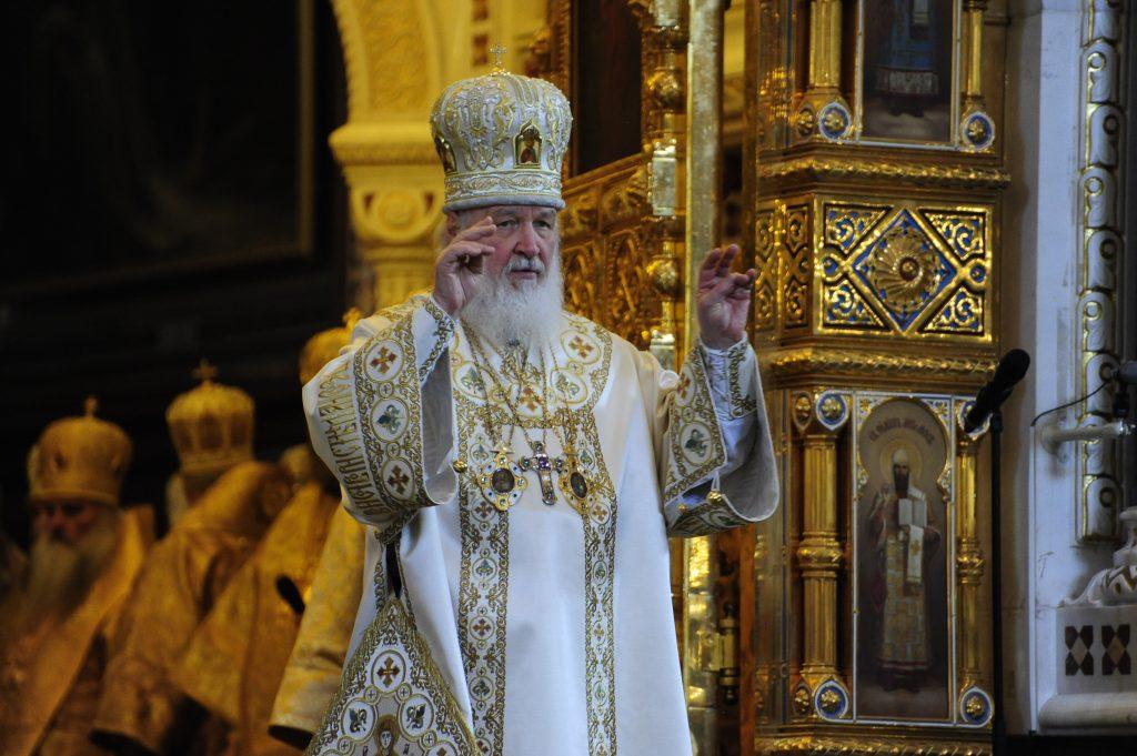 Патриарх Кирилл провел церемонию освящения ветвей вербы
