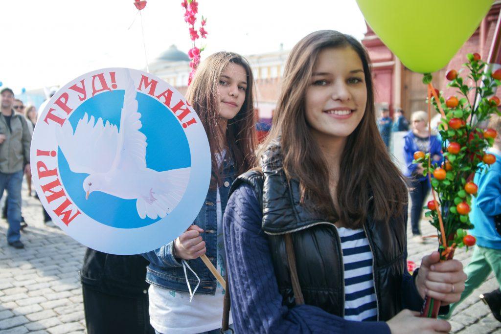 На первомайских демонстрациях в Москве соберутся 130 тысяч человек