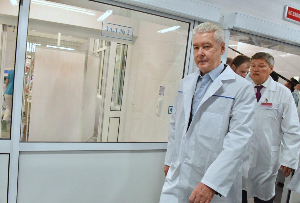 Сергей Собянин навестил пострадавших от урагана в больнице имени Юдина