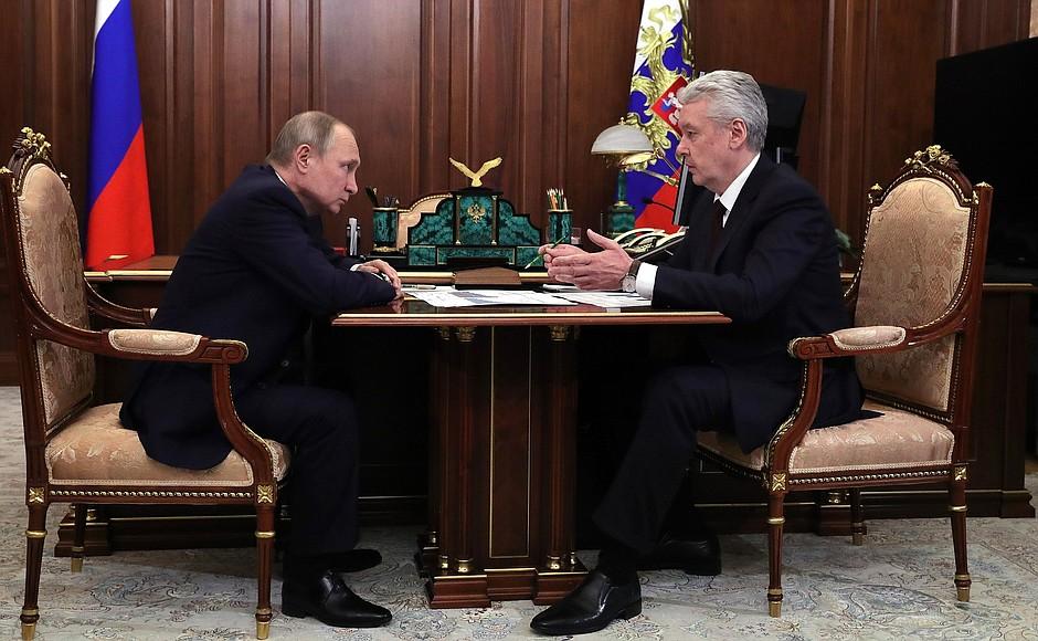 Сергей Собянин заявил о начале строительства подземного кольца Москвы на встрече с Владимиром Путиным