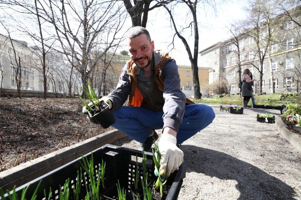 Весеннюю уборку газонов осуществят в Воскресенском