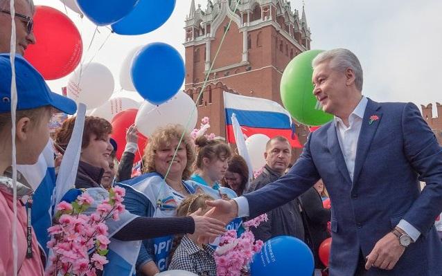 Сергей Собянин поздравил жителей столицы с Днем герба и флага.Фото: mos.ru