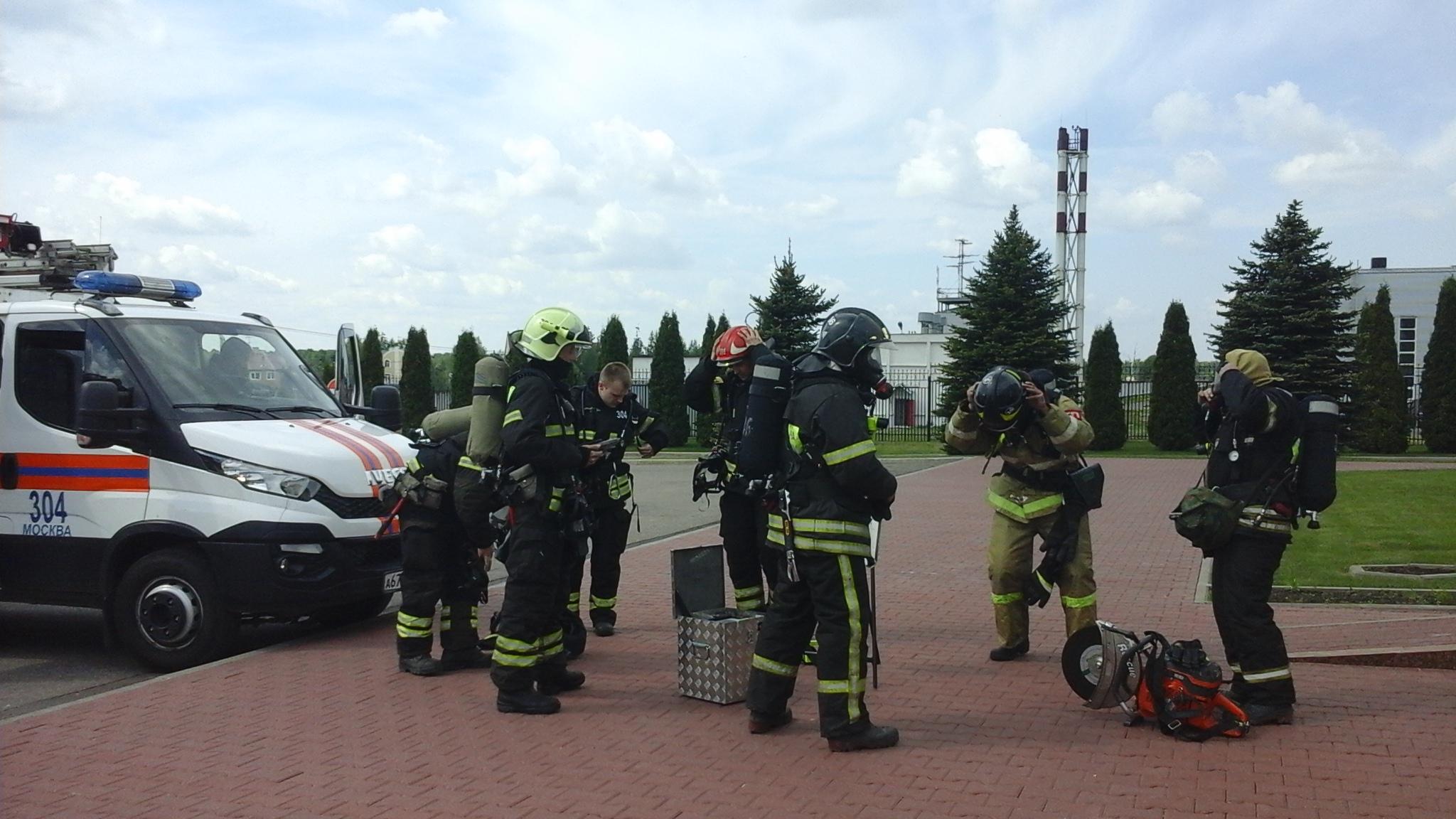 В аэропорту «Остафьево» прошла тренировка по ликвидации условной ЧС