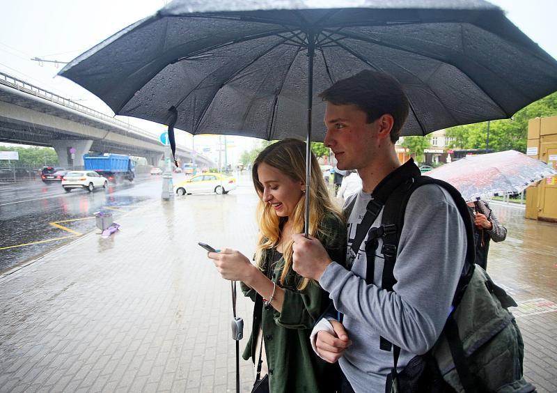 Ливневые дожди с грозами придут в Москву