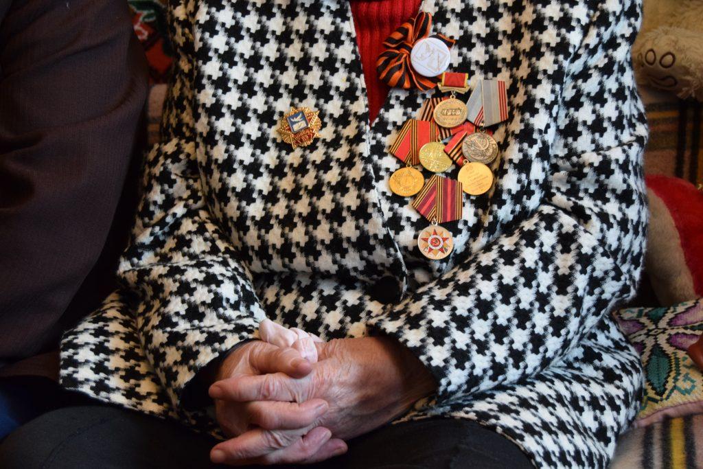 Медали Марии Николаевны Ильиной: «Непокоренные», «За доблестный труд в Великой Отечественной войне 1941-1945 гг.» и другие.