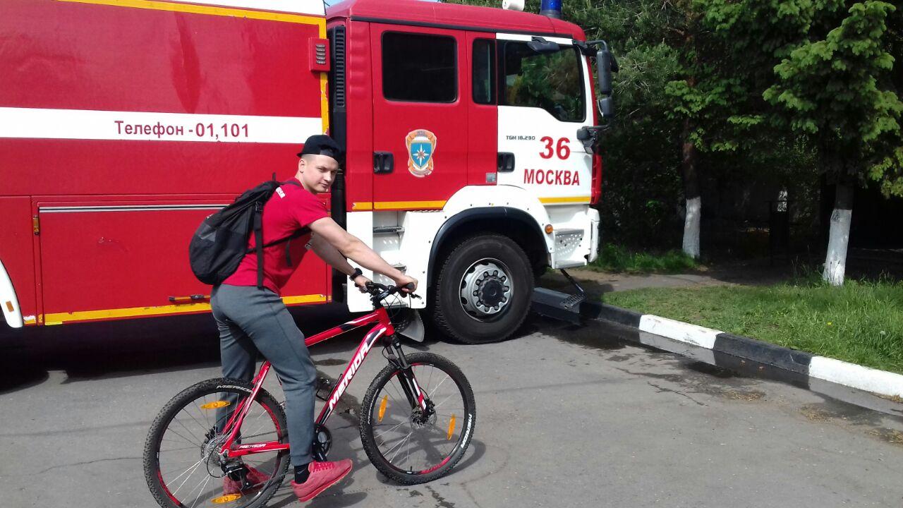 В Акции «На работу на велосипеде!» приняли участие пожарные новой Москвы