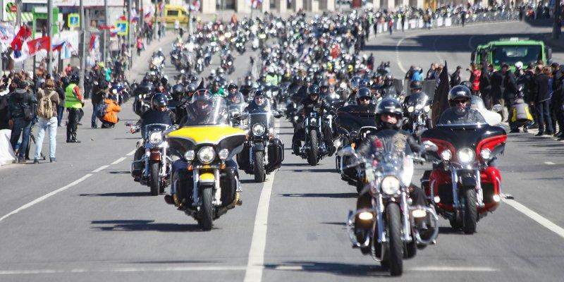Ежегодный мотопарад прошел в столице