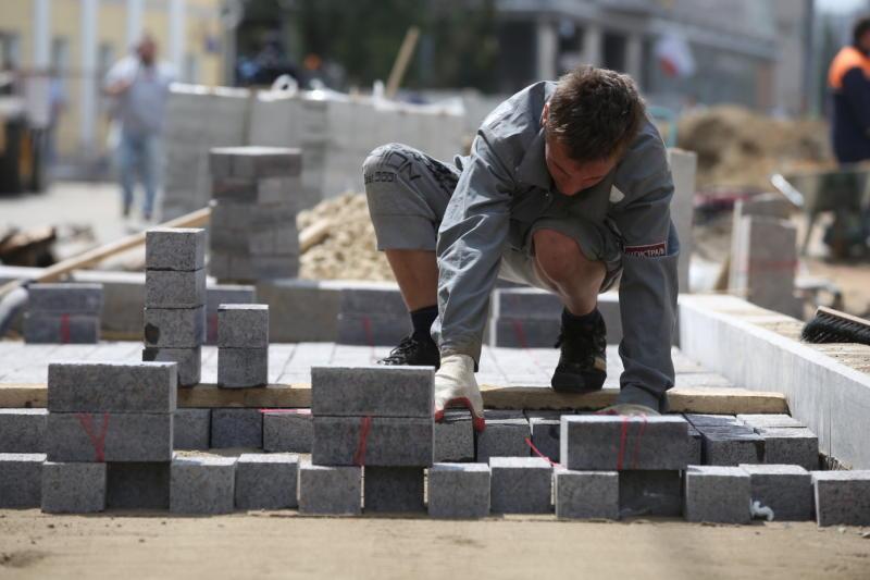 Новые бордюры установят на улицах поселения Мосрентген