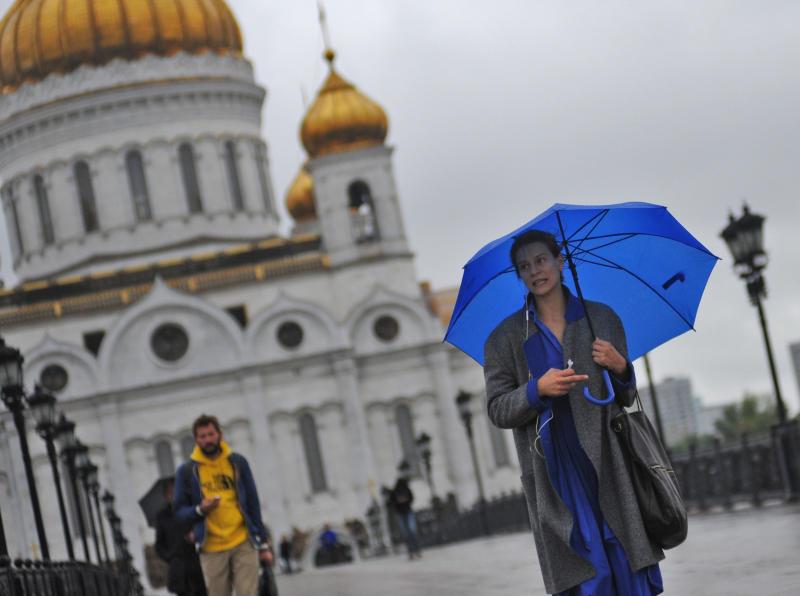 Москвичей ожидают осадки и дождь на выходных