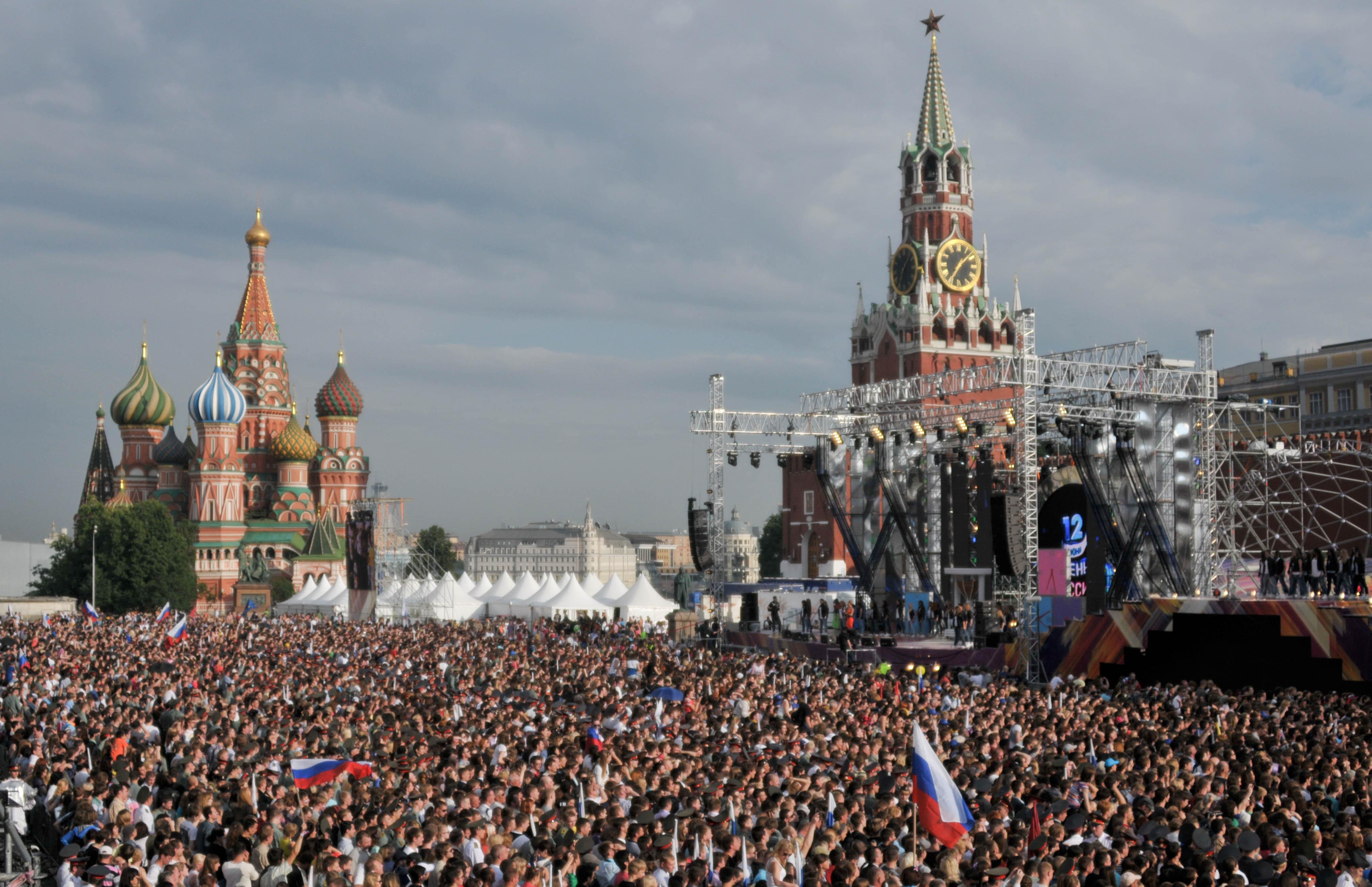 Зрителями праздничного концерта на Красной площади стали 30 тысяч человек