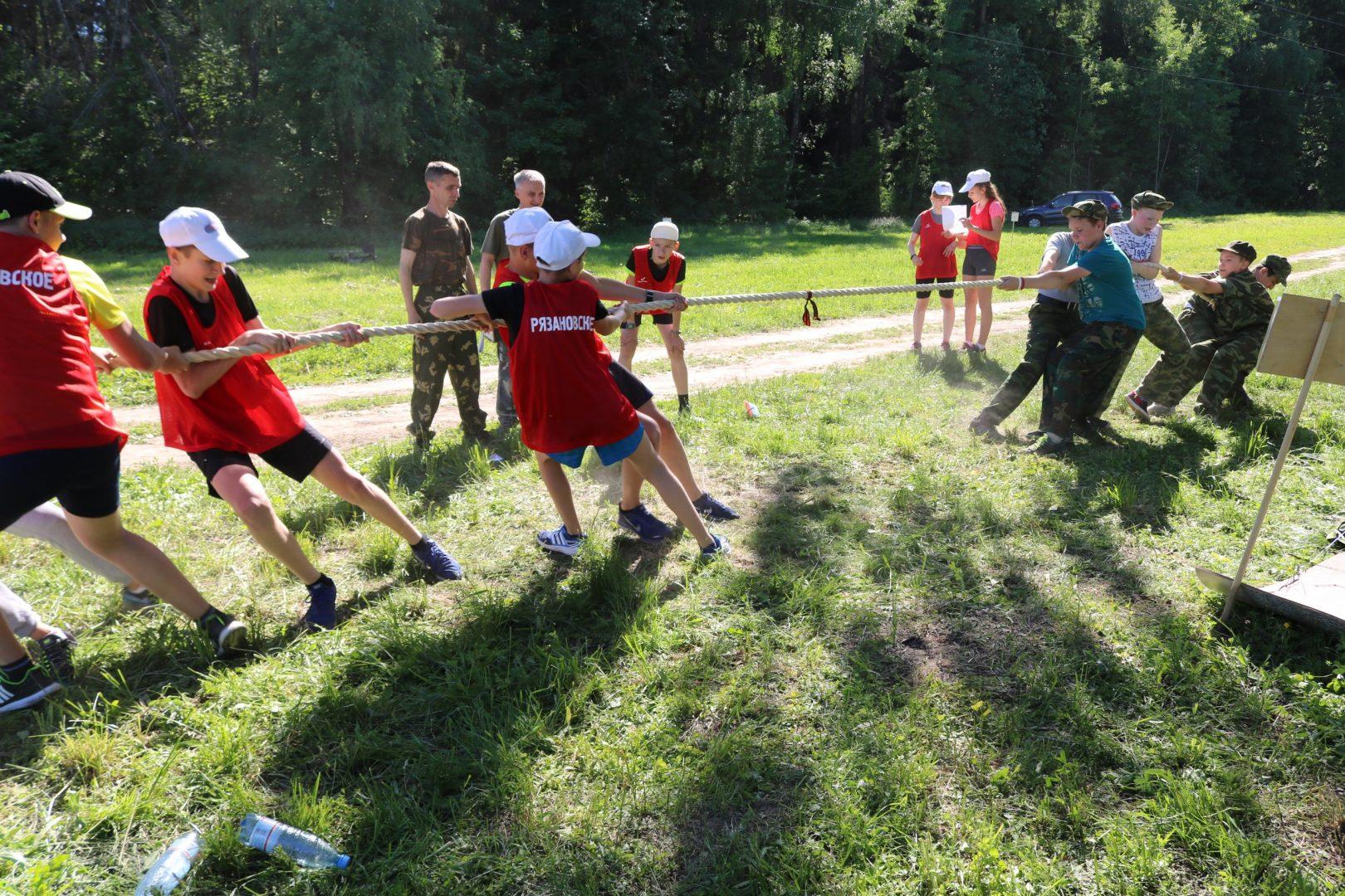 Спортивная игра «Зарница» состоялась в Рязановском. Фото: администрация поселения Рязановское