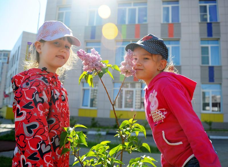 Цветы высадили в поселении Рязановское