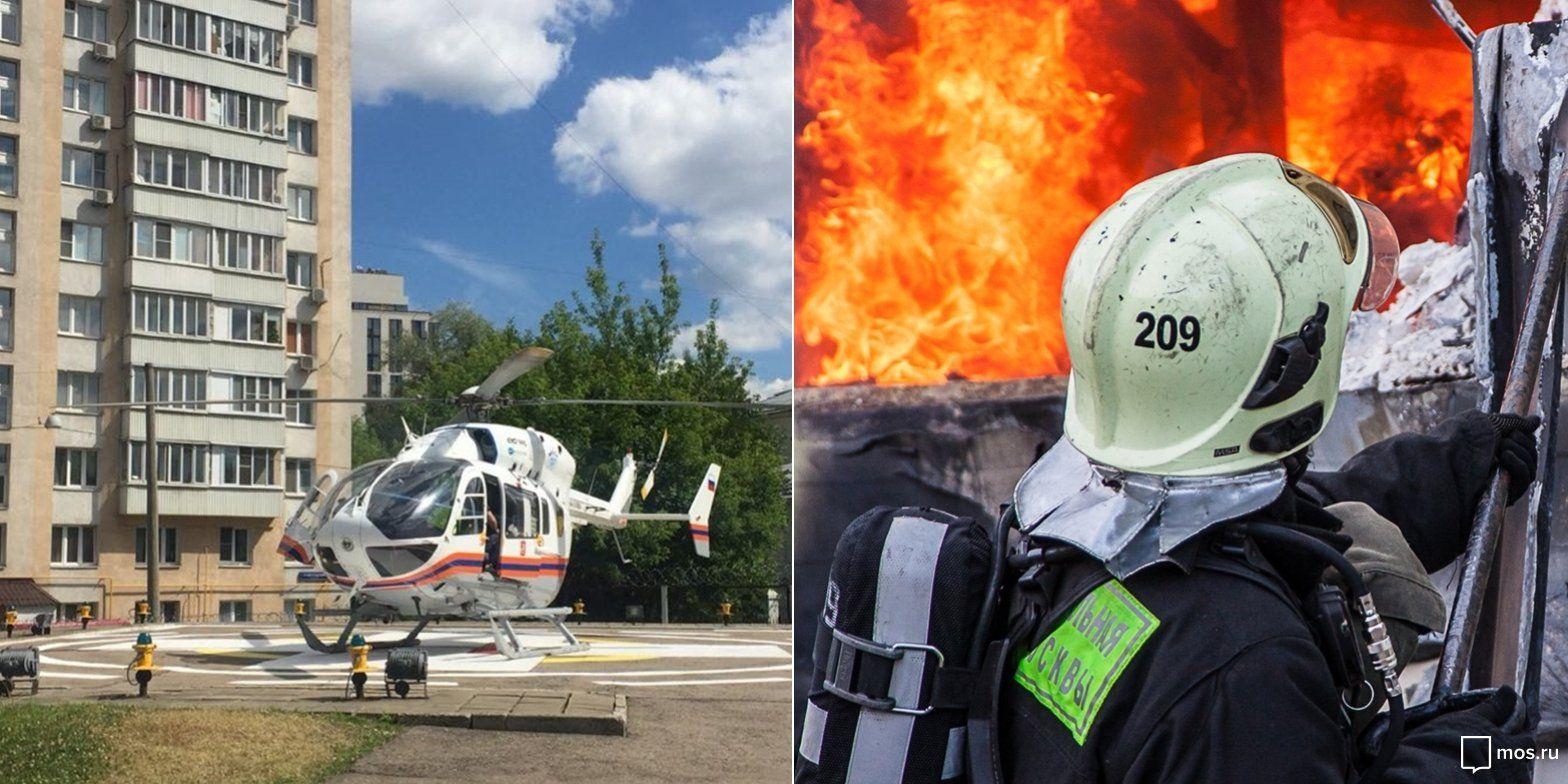 «Жаркая пора» у московских спасателей: итоги за июнь