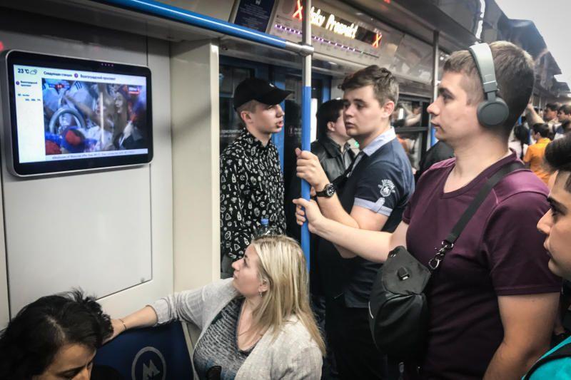 Финал Чемпионата мира покажут в прямом эфире в вагонах метро