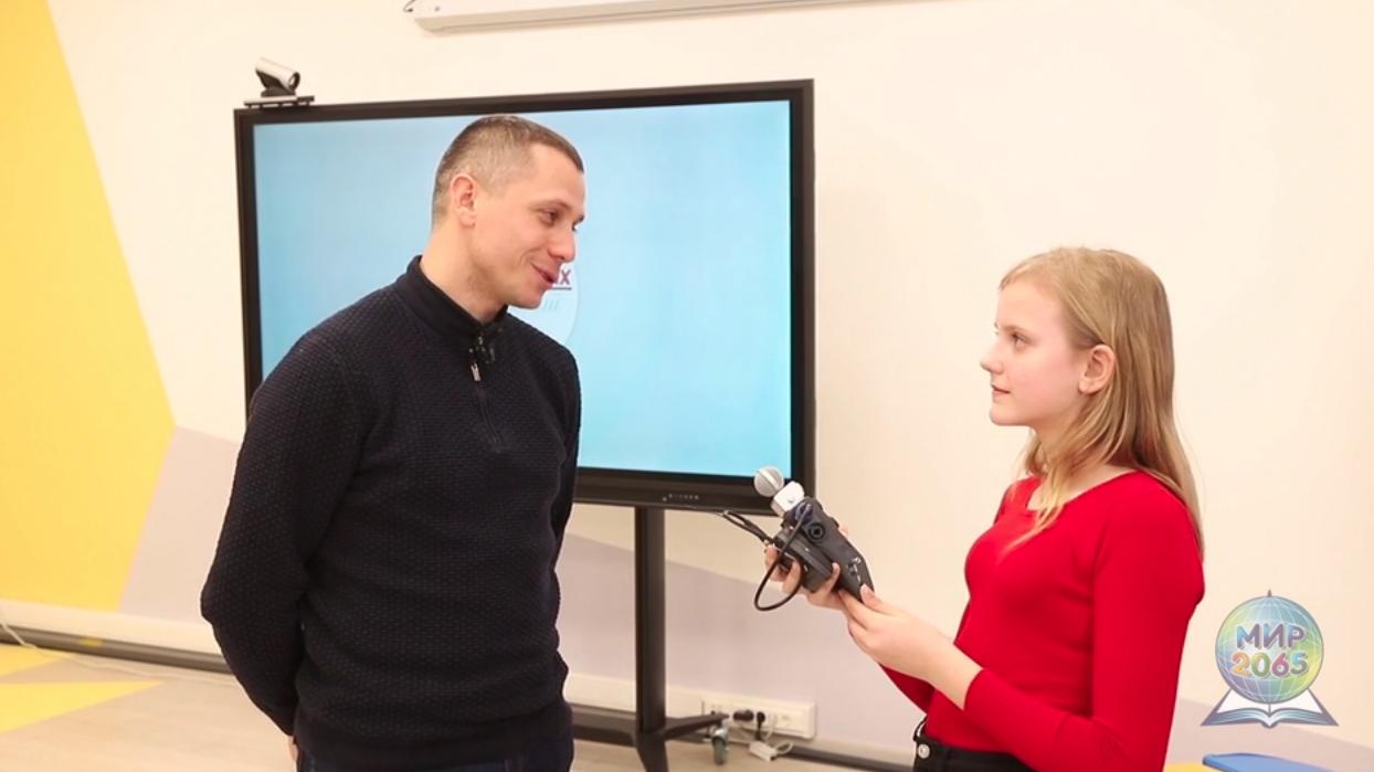 Школьники из Московского взяли интервью у Олимпийского чемпиона