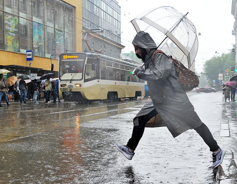 Дожди и шквалистый ветер сохранятся в Москве